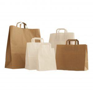 Flat Handles (Plain Paper Bags)